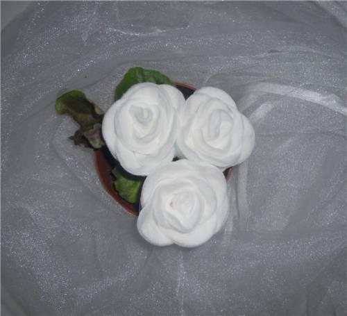 Цветы своими руками из ватных дисков пошаговое фото